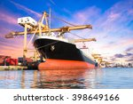 container cargo freight ship... | Shutterstock . vector #398649166