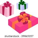 gift boxes   Shutterstock .eps vector #39865357