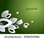 green vector background with 3d ... | Shutterstock .eps vector #398654986