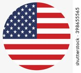 usa button flag | Shutterstock .eps vector #398655565