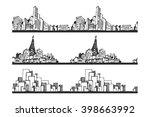 cityscape sketch  seamless... | Shutterstock .eps vector #398663992