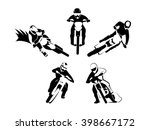 motocross endurancea set | Shutterstock .eps vector #398667172