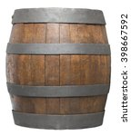 wood barrel  cask  isolated on... | Shutterstock . vector #398667592