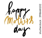 happy mother's day | Shutterstock .eps vector #398668102