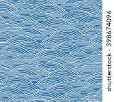 vector seamless wavy pattern.... | Shutterstock .eps vector #398674096