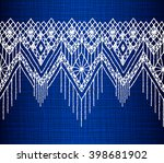 floral seamless pattern with a... | Shutterstock .eps vector #398681902