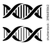 vector dna simple black symbols | Shutterstock .eps vector #398685862