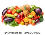 fruit and vegetable isolated on ... | Shutterstock . vector #398704402