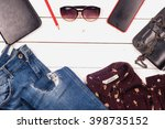 women clothing set and...   Shutterstock . vector #398735152