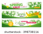 spring sale template banners | Shutterstock .eps vector #398738116