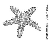 starfish sea animal coloring... | Shutterstock .eps vector #398741062