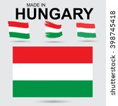 hungary   traditional flags and ... | Shutterstock . vector #398745418