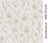 floral seamless pattern with... | Shutterstock .eps vector #398757145