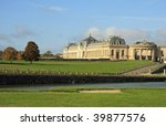 Stunning and massive architecture at the Domaine de Chantilly's stables - stock photo