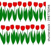 Seamless Pattern Of Tulips In ...