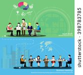 vector businessman... | Shutterstock .eps vector #398783785