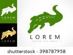 crocodile logo vector | Shutterstock .eps vector #398787958