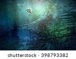 Old Blue Green Texture Grunge...