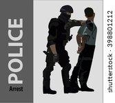 criminal arrest does a police... | Shutterstock .eps vector #398801212