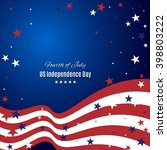 us independence day abstract... | Shutterstock .eps vector #398803222