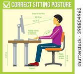 correct health sitting posture... | Shutterstock .eps vector #398804962