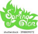 spring on logo | Shutterstock .eps vector #398809072