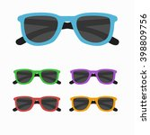 Sun Glasses Set Vector...