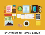 business flat lay | Shutterstock .eps vector #398812825