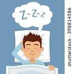 illustration of a man sleeping... | Shutterstock .eps vector #398814586