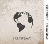 earth day grunge concrete... | Shutterstock .eps vector #398826556