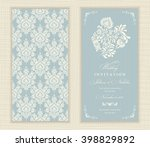 wedding invitation cards ... | Shutterstock .eps vector #398829892