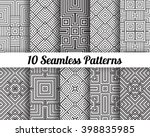 set of 10 abstract patterns.... | Shutterstock .eps vector #398835985