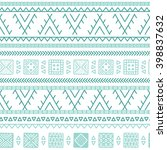 vector seamless african ornate... | Shutterstock .eps vector #398837632