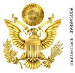 Gold Great Seal Of The United...