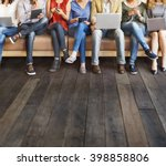 diversity people connection... | Shutterstock . vector #398858806