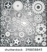 background with gears | Shutterstock .eps vector #398858845