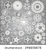 background with gears | Shutterstock .eps vector #398858878