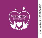 vector logo wedding | Shutterstock .eps vector #398866936