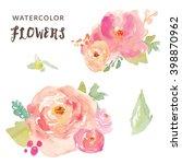 Stock vector watercolor flower vector 398870962