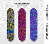 skateboard colorful designs | Shutterstock .eps vector #398885212