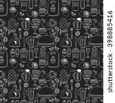set of hand drawn cookware.  | Shutterstock .eps vector #398885416