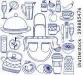vector doodle set of... | Shutterstock .eps vector #398885476