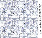 vector doodle set of... | Shutterstock .eps vector #398885536