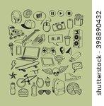 teenagers having fun concept.... | Shutterstock .eps vector #398890432