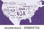 handdrawn illustration of usa... | Shutterstock .eps vector #398890756