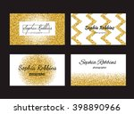 collection of business card... | Shutterstock .eps vector #398890966