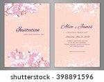 elegant floral background for... | Shutterstock .eps vector #398891596