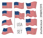 independence day background set ... | Shutterstock .eps vector #398892595