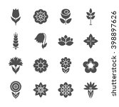 flower icons set. modern thin... | Shutterstock .eps vector #398897626