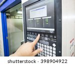 cnc machine control panel close ... | Shutterstock . vector #398904922